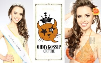 Miss Earth Sweden 2012 Camilla Hansson joined the army of Ohmygossip Couture beauty title holders